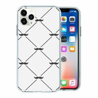 For Apple iPhone 11 PRO MAX Silicone Case Hipster Moustache Pattern - S1172