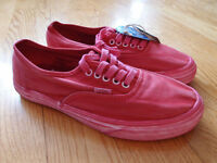 Vans Authentic CA Over Washed Shoes Red Size 9 Checker Skate Overwashed Supreme