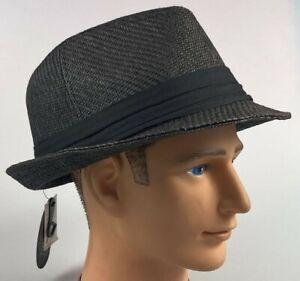 Retro 7 Premium Goods New With Tags XXXL Black Straw Fedora Hat
