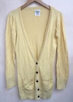 Ladies Yellow V-Neck  Cardigan Size 8 New Look<NH6739