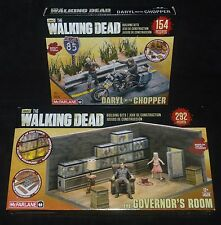 Walking Dead The Governor's Room & Daryl with Chopper Building Sets McFarlane