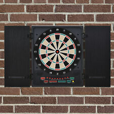 HOMCOM Electronic Dartboard LED Score 27 Games with 12 Soft Tip Dart and Cabinet