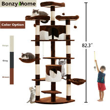 "33"" 67"" 82"" Cat Climbing Tree Condo Tower House Scratching Post For Kitty Cats"