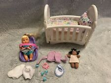 Mattel Barbie Baby Krissy & Nursery Accessories With Car seat And Crib