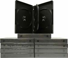 "(10) Black 4 Disc Capacity 27mm DVD Boxes Replacement Cases Plastic 1"" DV4R27BK"