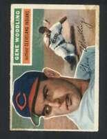 1956 Topps #163 Gene Woodling EX/EX+ Indians 94526