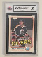 1981-82 O-PEE-CHEE #111 PAUL COFFEY HALL OF FAME ROOKIE CARD KSA 9 MINT