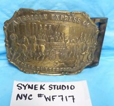 SYNEK STUDIO NYC WF717 AMER EXPRESS CO WELLS  BUTTERFIELD BELT BUCKLE BX9