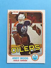 ANDY MOOG ROOKIE 1981-82 O-Pee-Chee Hockey Card #120 EDMONTON OILERS