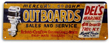 TIN SIGN PGB576 Mercury Outboards Retro Boating Fishing Marina Metal Decor