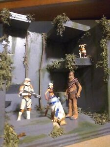 Custom star wars kashyyyk style jungle diorama playset 3.75