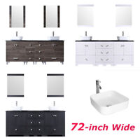 52 Inch Travertine Top Bathroom Cabinet Double Vanity Dual