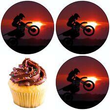 Motocross Motorrad Eßbar Tortenbild Tortenaufleger Party Deko Geburtstag Neu