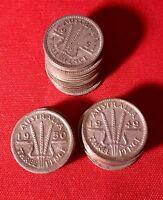 1942 Australian Three Pence Coin 92.5% Silver Pre Decimal Coin x 1.