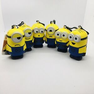 Despicable Me Minion Squishy Stress Gear Ball Clip Back Pack Bag Foam YOU PICK