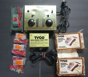 TYCO HO TRANSFORMERS 898/899V, SOUND BOX, 3 CONTROL BLOCKERS-L@@K VINTAGE