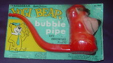 TRANSOGRAM  YOGI BEAR  BUBBLE PIPE  SEALED ON CARD  1963  HANNA BARBERA