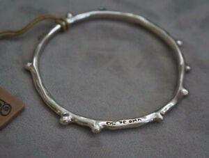 "NWT Uno De 50 Silver ""Wakame"" Coral Bangle Bracelet"