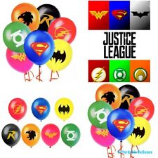 Set Of 7 Justice League Latex Birthday Party Balloons. Marvel Party Decorations
