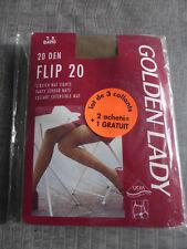 lot 3 paires de collants Golden Lady T5 Daino Flip 20 extensible mat retro