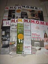 Konvolut: 9 Ausgaben des Magazins HOME. Einrichten, Architektur, Wohnen...