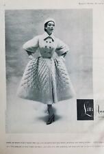 1953 LILLI ANN women's fleece woven coat vintage fashion ad