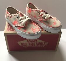 VANS Girls Youth Sneakers Shoes Camden Stripe Palms Coral Natural  SIZE 11 BNIB