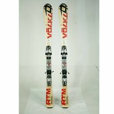 USED Volkl RTM 7.4 Snow Alpine Downhill Skis With Marker Bindings 135cm