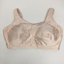 BARELY BREEZIES Style #A45771Underwire/Unlined/Comfortable Lacy/PinkBra 38DD/EUC