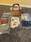Longaberger small boardwalk basket, Protector. with 7 liners all brand new.