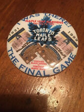 NHL Toronto Maple Leafs Last Game at Maple Leaf Gardens Pinback Button 2-13-99