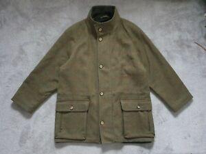 Henry White Mens Wool & Cashmere Tweed Coat - Size Medium Fleece Lining