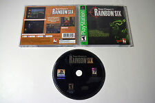 Tom Clancys Rainbow Six Sony Playstation PS1 Video Game Complete