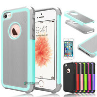 for Apple iPhone 5 5s SE Shockproof Hybrid Rugged Rubber Hard Armor Case Cover