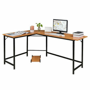 Computer Desk Home Office Study Laptop PC Work Table L-Shaped Corner