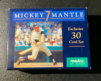 MICKEY MANTLE NEW YORK YANKEES PINNACLE 30 CARD SET in BOX /Beautiful Set MINT !