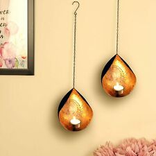 Wall Sconce Tea Light Candle Holder Wall Hanging Diwali Home Decor Gift Set of 2