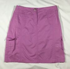 Women's Island Republic Light Magenta Purple A-Line Cargo Skirt-size 4