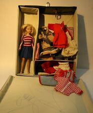 Vintage 1962 Mattel Skipper doll with Barbie case and accessories