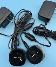 BELKIN F8Z492 BLUETOOTH MUSIC RECEIVER W/ POWER SUPPLY LOT OF 2