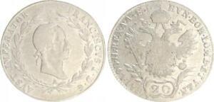 Deutschland / Österreich 20 Kreuzer 1830 A Franz I. ss/ss-vz 41816
