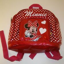 Disney's Minnie Mouse Girls Mini Red Backpack w White Polka Dots Small