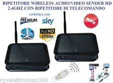 RIPETITORE TRASMETTITORE SEGNALI AUDIO/VIDEO HD E TELECOMANDO 2,4GHZ