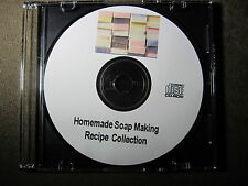 Homemade Soap Making 25 Books and Guide Collection on CD How to make soap Lye