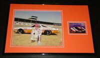 Cale Yarborough Signed Framed 11x17 Photo Display