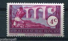 AEF - 1937-42, timbre 35, REGION du MAYUMBE, TRAIN sur le Viaduc, neuf**