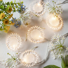 20 Sunflower Indoor Bedroom Fairy String Lights with 20 Warm White LEDs