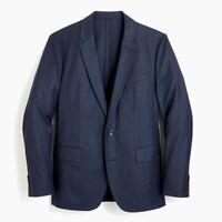 J Crew Ludlow Slim Fit Navy Wool Blazer 42 R - American Woolen Company H2794