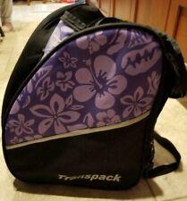 Used Transpack XTW Downhill Ski Boot Bag, Purple Floral