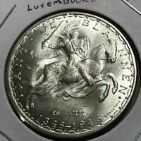 1946 LUXEMBOURG SILVER 100 FRANCS BRILLIANT UNCIRCULATED CROWN SCARCE ISSUE
